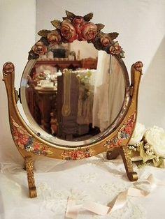 Beautiful barbola mirror