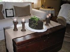love the trunk for a coffee table