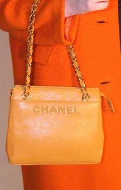 Chanel ~ Fabulous Vintage Orange Handbag from the 1980's