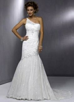 Trumpet / Mermaid Asymmetric Chapel Train Satin Lace Unique Wedding Dress #TRUMPET #MERMAID #wedding dress   http://www.illusionbridals.com/search.php?search_query=mermaid+&Search=