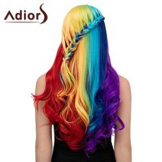 SHARE & Get it FREE | Adiors Long Colorful Centre Parting Side Braided Wavy Synthetic WigFor Fashion Lovers only:80,000+ Items • FREE SHIPPING Join Nastydress: Get YOUR $50 NOW!