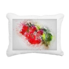Rectangular Canvas Pillow by umumar - CafePress Pillow Design, Note Cards, Color Combinations, Greeting Cards, Notes, Pillows, Cherries, Alchemy, Mousepad