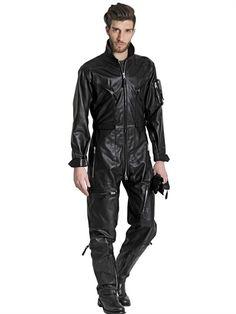 men Elegant chic leather jumpsuit for this season. | men leather ...