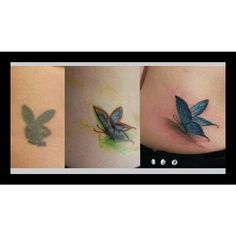 """41 Likes, 3 Comments - Angelo Fernandes (@angelotattooartist) on Instagram: """"#coverup #playboy #buterfly"""""""