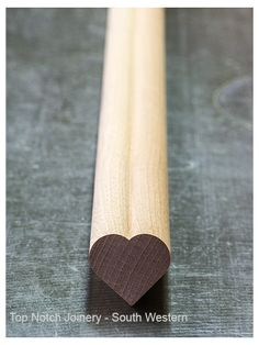 We #love #woodworking. Moulded #Heart in hardwood, utile
