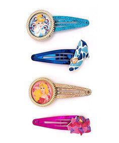 Look what I found on #zulily! Disney Princess Hair Clip Set #zulilyfinds