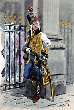 Officier du 5ͤ Hussards 1792