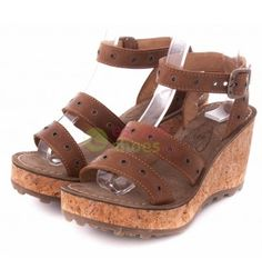 FLY LONDON Glam Grid Camel sandals - EscapeShoes