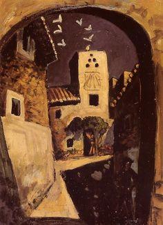 """Auguste CHABAUD """"Le pigeonnier pr�s du porche"""""""