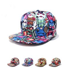 3c248ec4075 Unique fashion design graffiti cute little zombie baseball cap hats for men  woman snapback caps hip hop casquette gorras