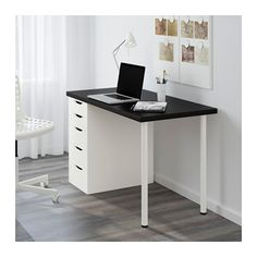 LINNMON / ALEX Table - black-brown/white - IKEA