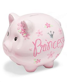 First Impressions Baby Bank, Baby Girls Princess Piggy Bank - Kids - Macy's