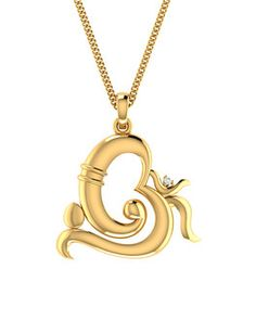 Elegant gold ganesha pendant to make you feel blessed to make it pendants yellow gold plated ganesh pendant without chain mozeypictures Gallery