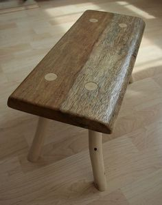 Make a low wood stool from green and reclaimed wood at The Goodlife Centre