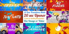 Download VideoHive  15 Tear Transitions with Opener  Project for After Effects Free