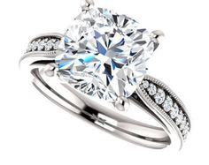 Pascale Cushion Cut Engagement Ring 1.32ctw by GerryTheJeweller