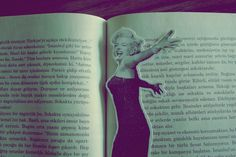 Marylin  silhouette on the book!