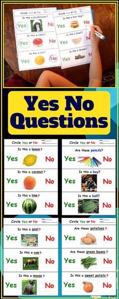 Yes No Questions Worksheets for Autism, Occupational Tharapy, Speech Therapy, ABA Therapy, TEACCH, Kindergarten and preschool students. These printables use real life pictures and are great for improving vocabulary. #worksheets #autism #sped #speechtherapy #questions #bundle #teachers #teacherspayteachers #autismresorces For more resources follow https://www.pinterest.com/angelajuvic/autism-and-special-education-resources-angie-s-tpt/