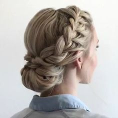Double Braided Updo by @anniesforgetmeknots - TAG Someone who should try this…