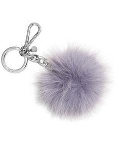 2a17e37093f MICHAEL Michael Kors Fur Pom Pom Keychain Handbags   Accessories - Macy s