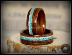 Bentwood Rings  Paired Rosewood Wood Rings with