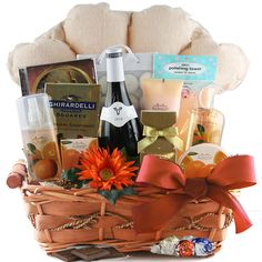 Bubbles Wine Gift Basket