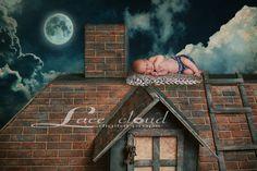 Digital Backdrop Newborn background vintage  by LaceCloudStudio