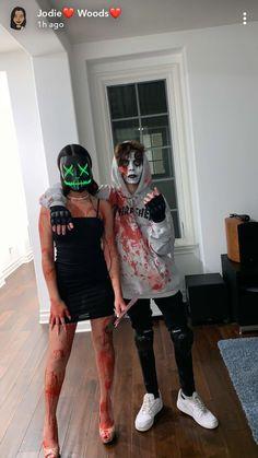 Metabes - Home, Craft and Diy Halloween Costume Teenage Girl, Horror Halloween Costumes, Cute Group Halloween Costumes, Trendy Halloween, Last Minute Halloween Costumes, Halloween Outfits, Group Costumes, Horror Costume, Halloween College
