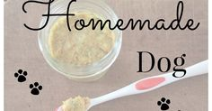 DIY tutorial on how to make a natural homemade toothpaste for your dog.