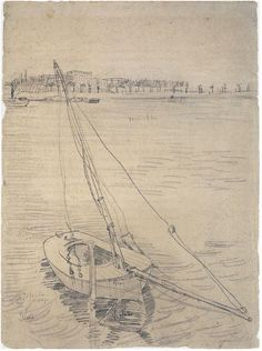Sailing Boat on the Seine at Asnières by Vincent Van Gogh - 1431