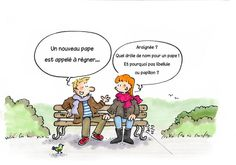 Only funny if read in French--but still funny.