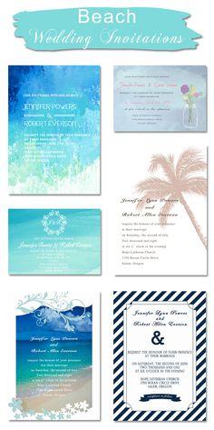 affordable beach themed wedding invitations for summer wedding ideas
