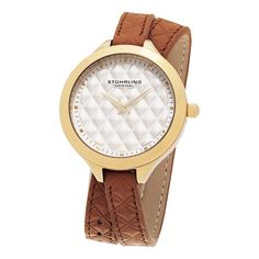 Seriously!? 83% off at http://www.overstock.com/Jewelry-Watches/Stuhrling-Original-Womens-Vogue-Quartz-Tan-Double-Wrap-Leather-Strap-Watch/10450707/product.html?cid=245307