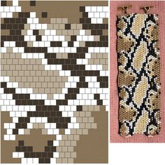 BRICK STITCH snake pattern 19, 4 colors