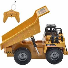 HuiNa Toys1540 Six Channel 1/12RC Metal Dump Truck Charging RC Car Sale - Banggood.com