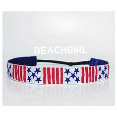 Stars and Stripes ~  Non Slip Adjustable Headband