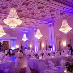 Beautiful ballroom at the Milwaukee Athletic Club. Milwaukee wedding reception venue