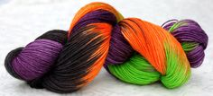 15% off your order in the Groovy Hues Fibers shop with code LOGO15 !  Wacky Witchy Wool Colorway -  Halloween Theme  LIMITED-EDITION yarn color! Worsted-weight 220 yd 100g 100% superwash  by Groovy Hues Fibers  http://www.facebook.com/GroovyHuesFibers