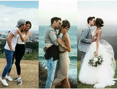 When they announced their relationship, when they got engaged, and at their wedding... J&G