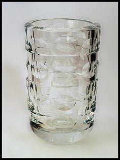 "i once owned this vase....    Ingeborg Lundin for Orrefors    2. Unique facet cut glass vase in clear glass.  Engraved ""Orrefors DA 3877/2""  Height 9""  Width 5 1/2"" (14cm)   1400 us dollars  No. N6778"