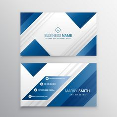 Geometric Business Card With Blue Shapes - FREE - Graphic Templates Search Engine Business Cards Layout, Professional Business Card Design, Minimalist Business Cards, Free Business Cards, Visiting Card Design, Bussiness Card, Graph Design, Name Cards, Tutorial