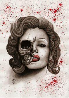 Marilyn Monroe by xBlack-Outx.deviantart.com on @DeviantArt
