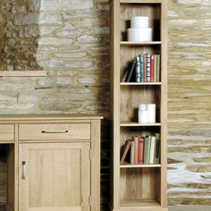 Mobel Solid Oak Narrow Bookcase -  - Bookcase - Baumhaus - Space & Shape - 1
