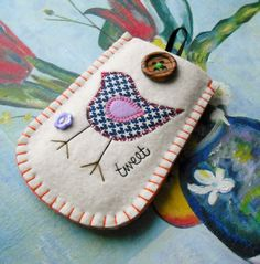Tweet Tweet Felt Phone Case. $26.00, via Etsy.