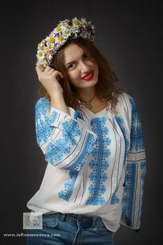 boheme - hand embroidered Romanian blouse, ie romaneasca - handmade embroidery - boho chick - bohemian fashion