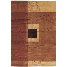 Trent Austin Design Vernon Grotto Hand-Knotted Burnished Earthtones Area Rug