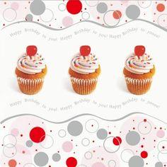 Cupcake bursdagskort dugnad kort. Celias dugnadskort med flotte design og sølvtrykk. Enkel dugnad med høy fortjeneste.