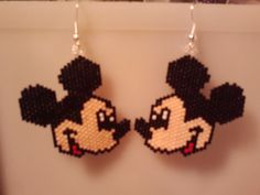 Native American Made Mickey Mouse Earrings by GreenKnobsBoutique, $26.00