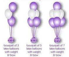 Balloon centerpiece layouts