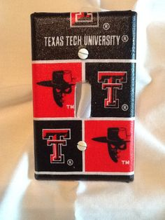 Texas Tech University Light Switch Cover by grannyharper on Etsy, $8.00